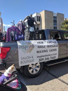 Miss Lucy patiently waiting for the parade to start. #salonmascots